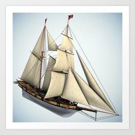Schooner Halcon Sailboat Art Print