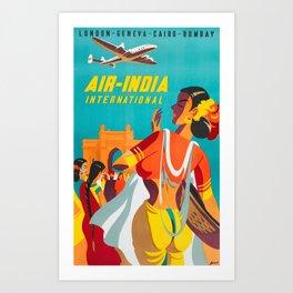 Air-India International - Vintage Airline Poster Art Print