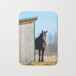 Percheron Horse by Teresa Thompson Bath Mat