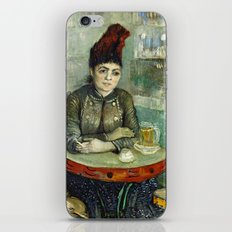 Woman in the Cafe Tambourin by Vincent van Gogh iPhone & iPod Skin