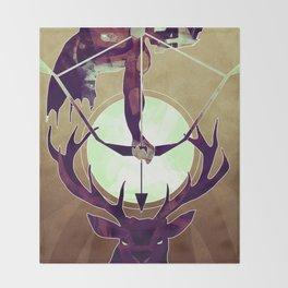 Artemis - The Huntress Throw Blanket