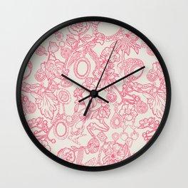 Charming Pink Wall Clock