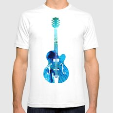 Vintage Guitar 2 - Colorful Abstract Musical Instrument SMALL White Mens Fitted Tee