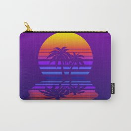 Synthwave Space #15: Twilight horizon (pixelart) Carry-All Pouch
