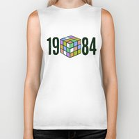 1984 Biker Tanks featuring 1984  by CaptClare
