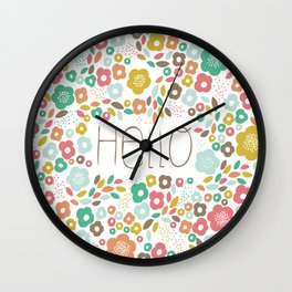 Funny flowers  Wall Clock