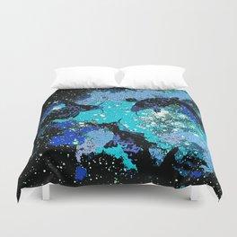 Koi In A Pond of Stars Duvet Cover