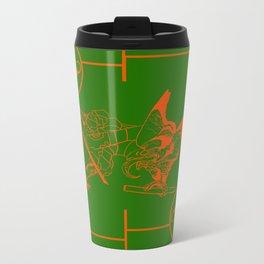 tengu green/orange Metal Travel Mug
