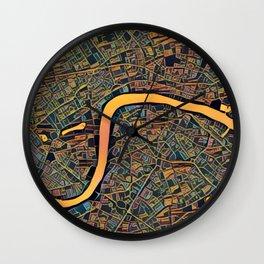 London Color Map Art Wall Clock
