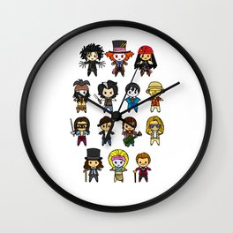 The Johnny Depp Collection Wall Clock