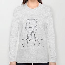 Grace Jones Smoking Long Sleeve T-shirt