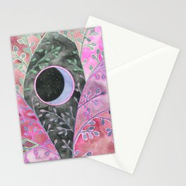 Moon in Purple Bramble Stationery Cards
