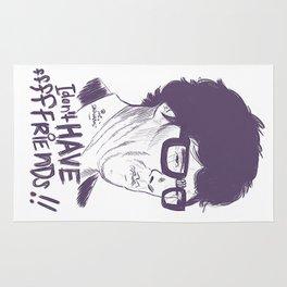 Hipster Sherlock Etch Rug
