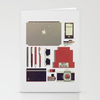 8bit Stationery Cards featuring 8Bit Handbag by Thecansone
