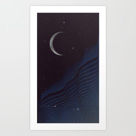 Waxing Cr3sc3nt Glytch Art Print