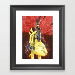 Run The Heart Framed Art Print