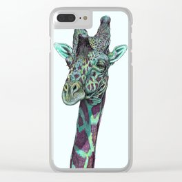 BLUE GIRAFFE Clear iPhone Case