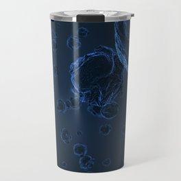 Abstract blue virus cells Travel Mug