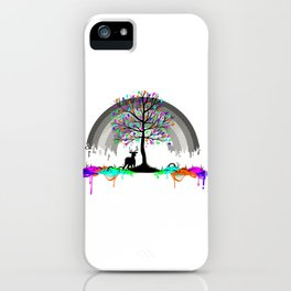 Colorless Raimbow iPhone Case