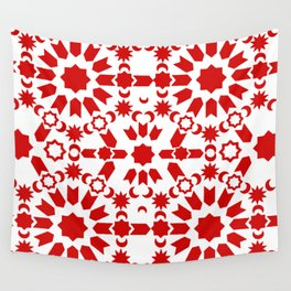 Red Arabesque Wall Tapestry