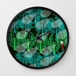 Fashionitsta cats pan art Wall Clock