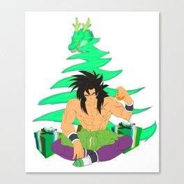Broly new Dragon Ball Super Star Saiyan christmast Canvas Print