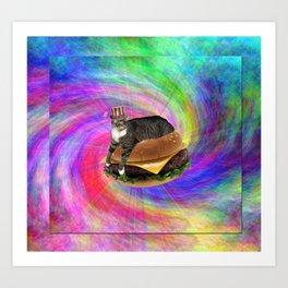 Prankster Lucy-Fur Burger Art Print