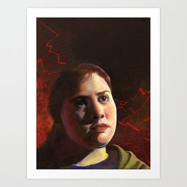 Cody, Fine Art Oil Painting Portrait Print Art Print
