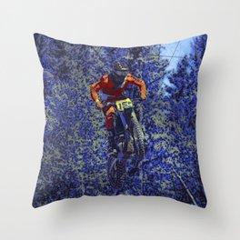 Finish Line Jump - Motocross Racing Champ Throw Pillow