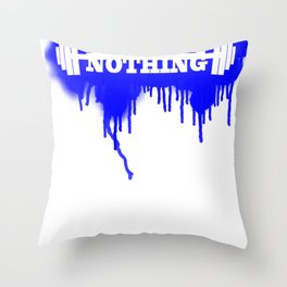 Rue Nothing Weights Sprayed Throw Pillow