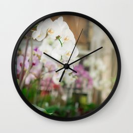 The Orchid Shop in Paris Wall Clock