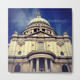 St Paul's Cathedral Photograph  Metal Print