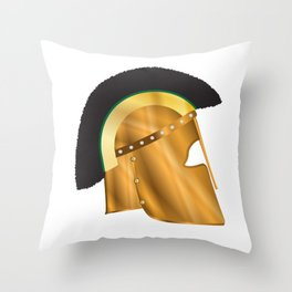 Roman Gladiator Helmet Throw Pillow