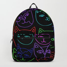 Neon Kitty Cats Backpack