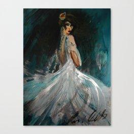 Dark Blue Night Canvas Print