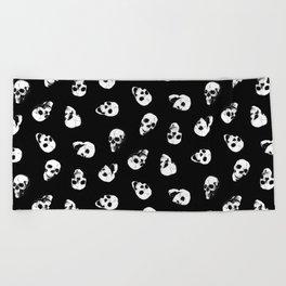 Gossiping Skulls Beach Towel