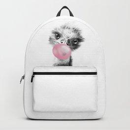 Bubblegum Emu Luminous Art. Funny blow a bubble emu  Backpack