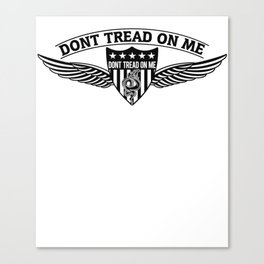 Don't Tread On Me Badge Wings Canvas Print