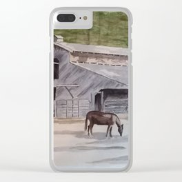 Old Horse Barn Clear iPhone Case