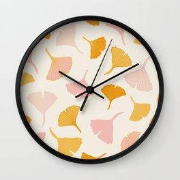 Ginko leaf pattern 2 Wall Clock
