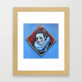 tiny portrait of woman in ruff Framed Art Print