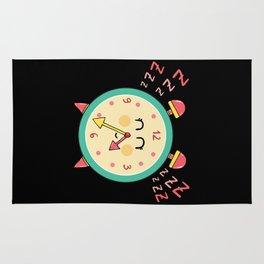 Sleepy clock Rug