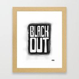Black Out No.2 Framed Art Print