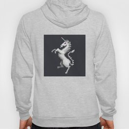 Pixel White Unicorn Hoody