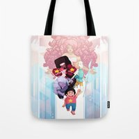steven universe Tote Bags featuring Steven by clayscence