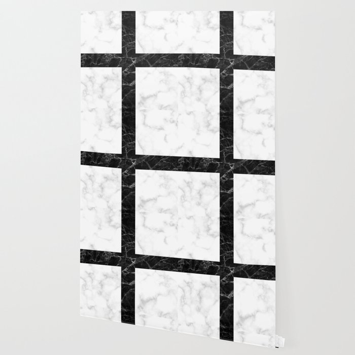 Marble Tile Pattern White Marble Black Marble Wallpaper
