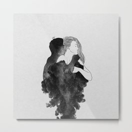 You are my peaceful heaven b&w. Metal Print