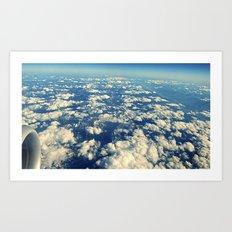 flying over mountain tops Art Print