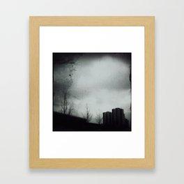 Rain that falls for weeks Framed Art Print