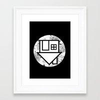 the neighbourhood Framed Art Prints featuring The Neighbourhood by Nicole Corder